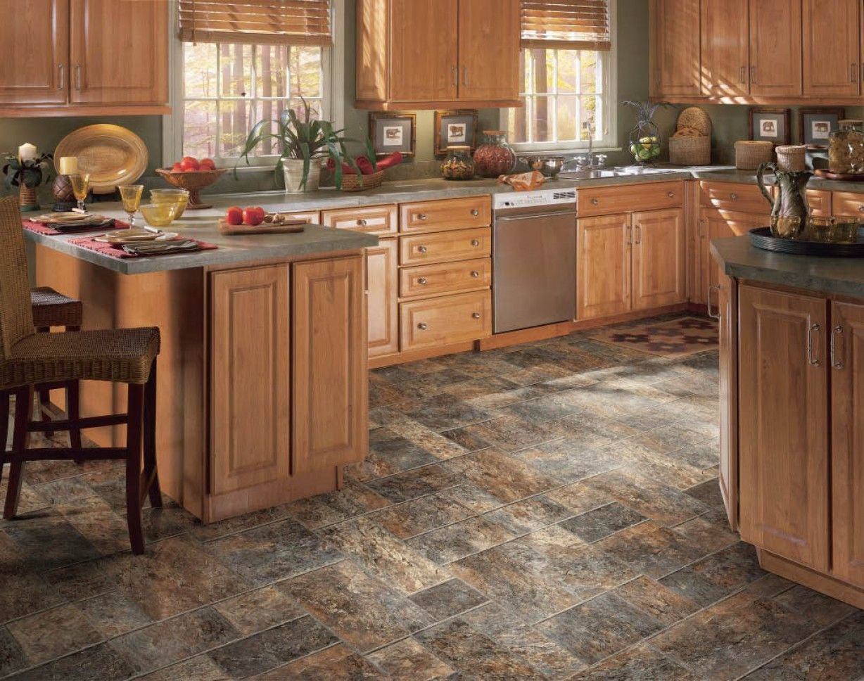 french country kitchen flooring ideas photo - 8