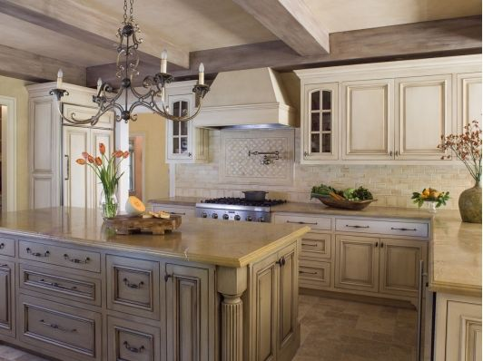 french country kitchen flooring ideas photo - 9