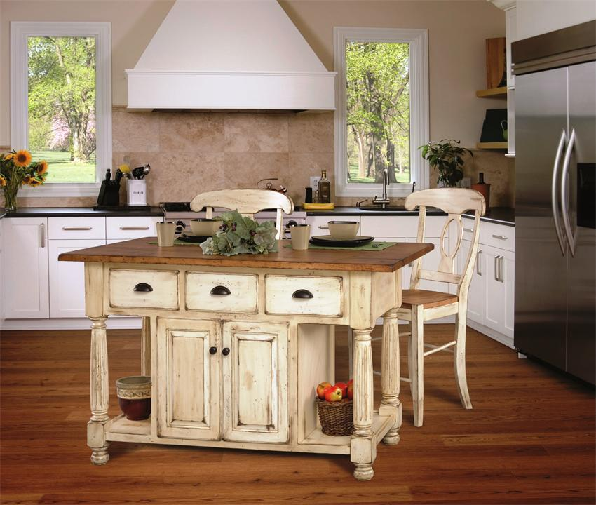 french country kitchen furniture table photo - 10