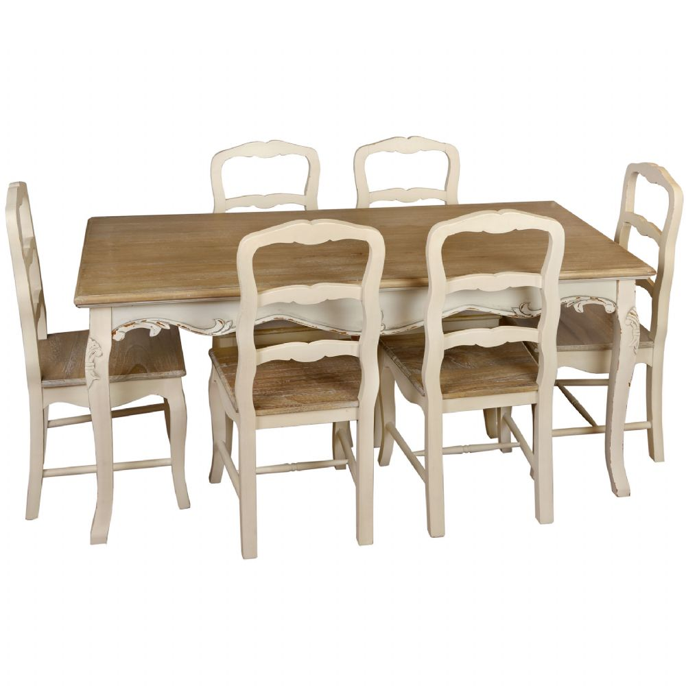 french country kitchen furniture table photo - 3