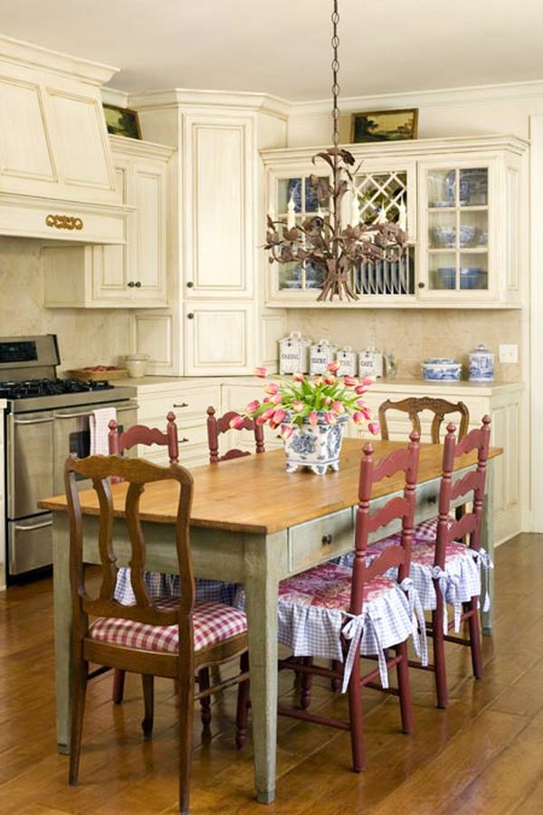 french country kitchen furniture table photo - 4