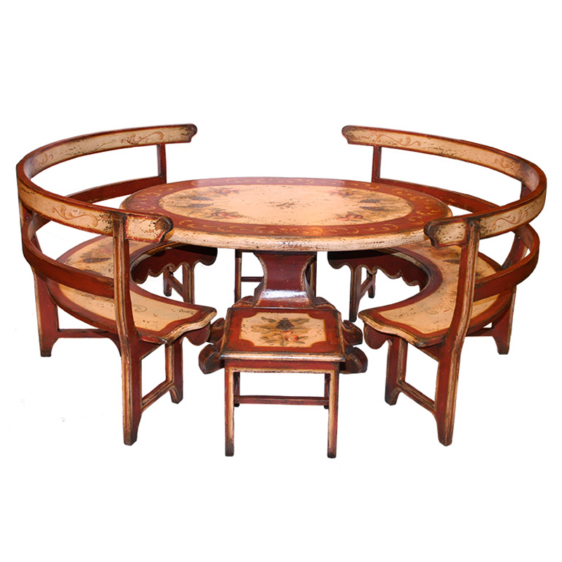 french country kitchen furniture table photo - 6