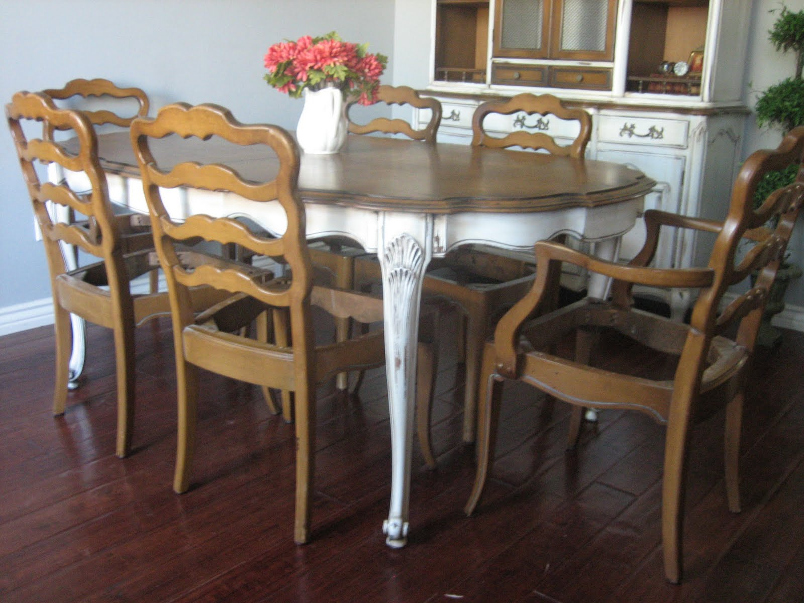 french country kitchen furniture table photo - 7