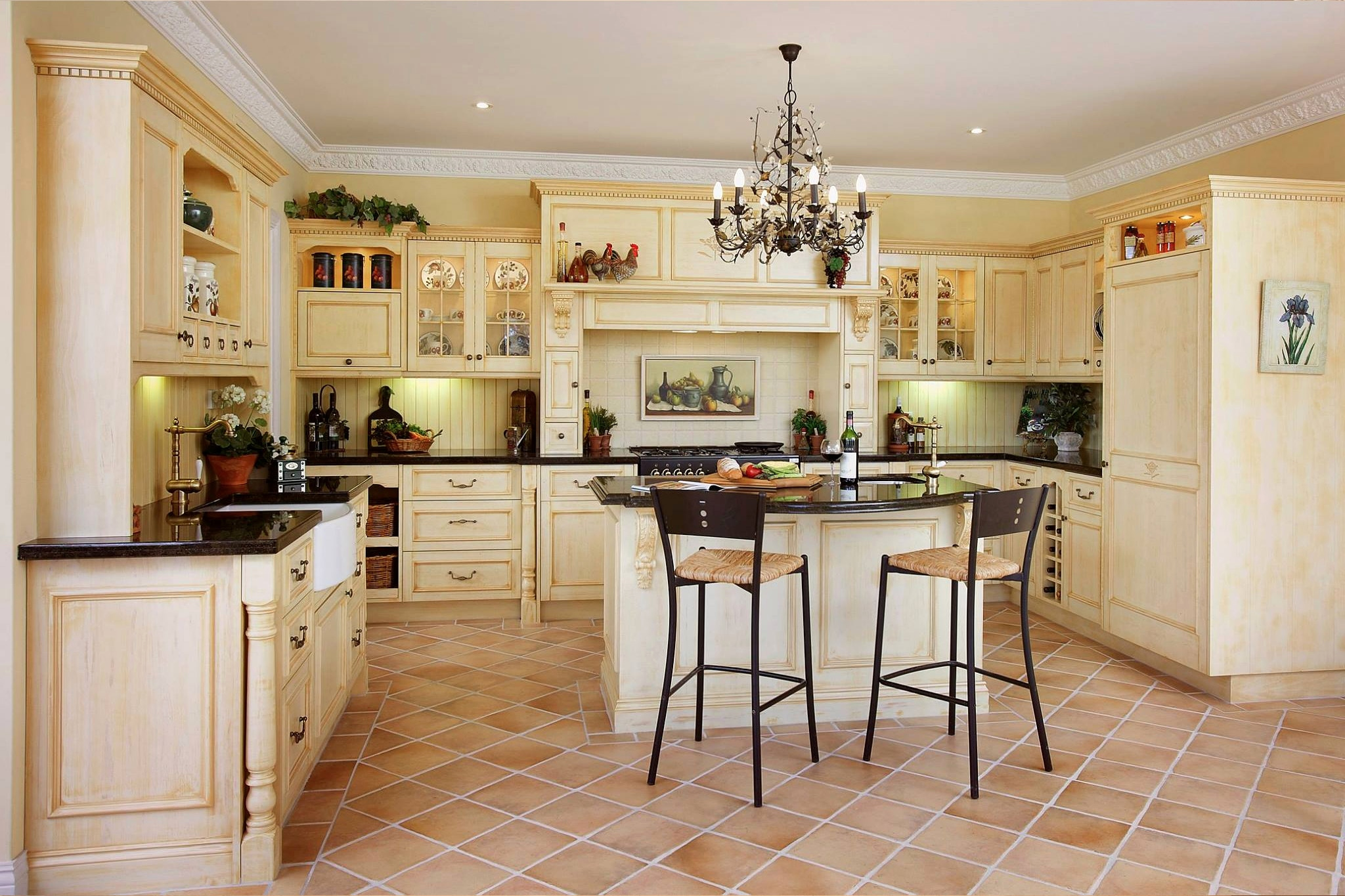 french country kitchen gallery photo - 8