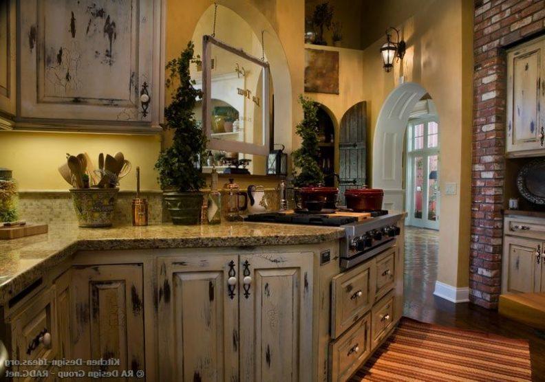 french country kitchen granite photo - 5