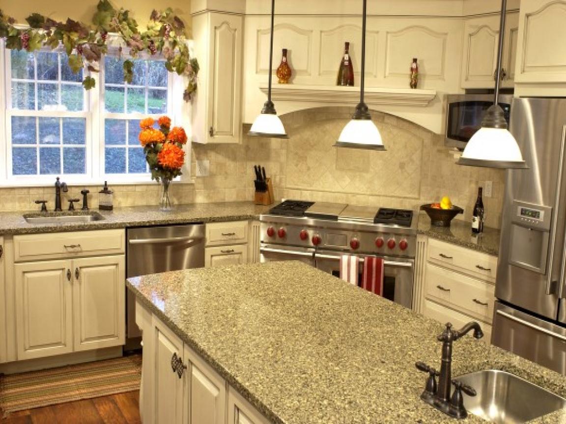 french country kitchen granite photo - 6