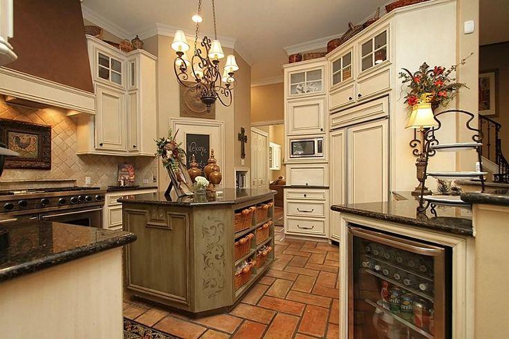 french country kitchen granite photo - 7