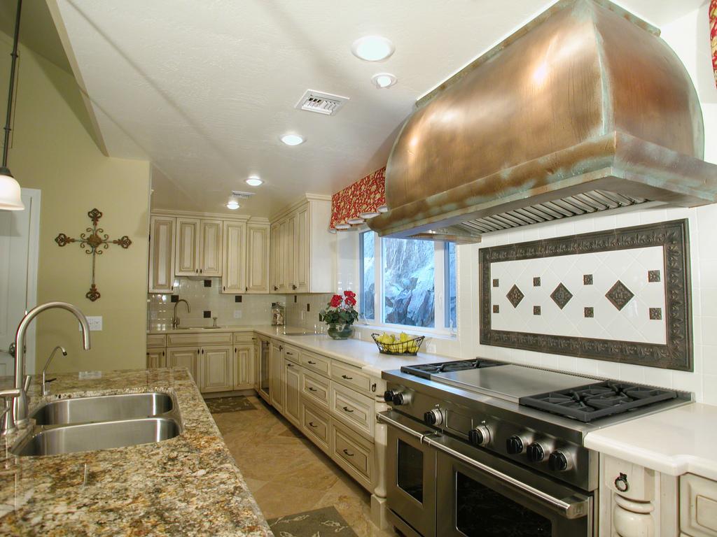 french country kitchen granite photo - 8