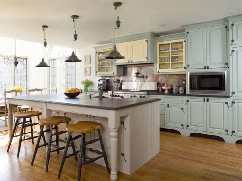 french country kitchen granite photo - 9