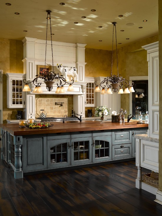french country kitchen island photo - 4