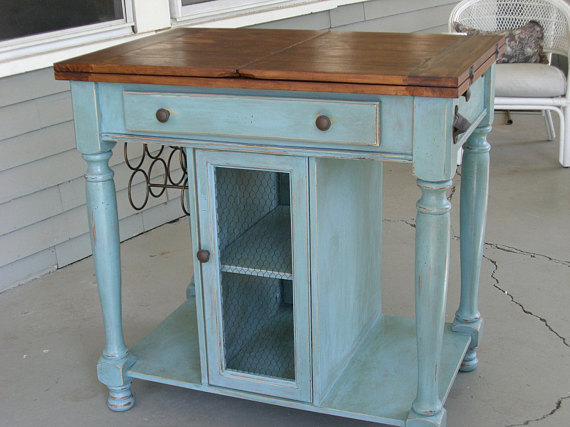 french country kitchen island photo - 6