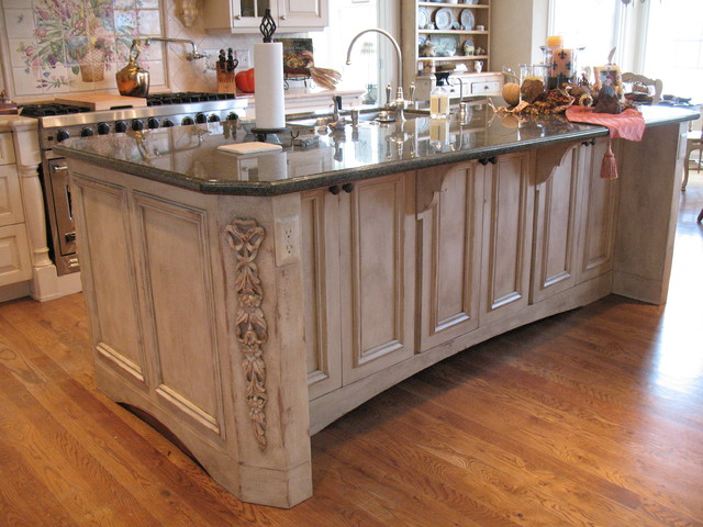 french country kitchen island photo - 7