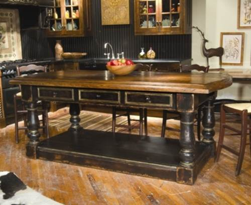 french country kitchen island photo - 9