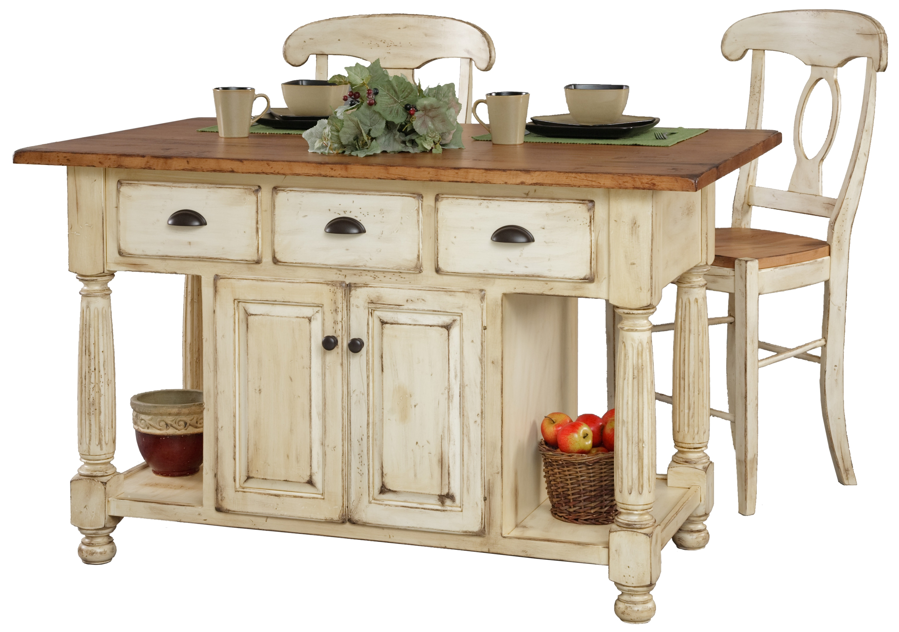 french country kitchen island furniture photo - 4