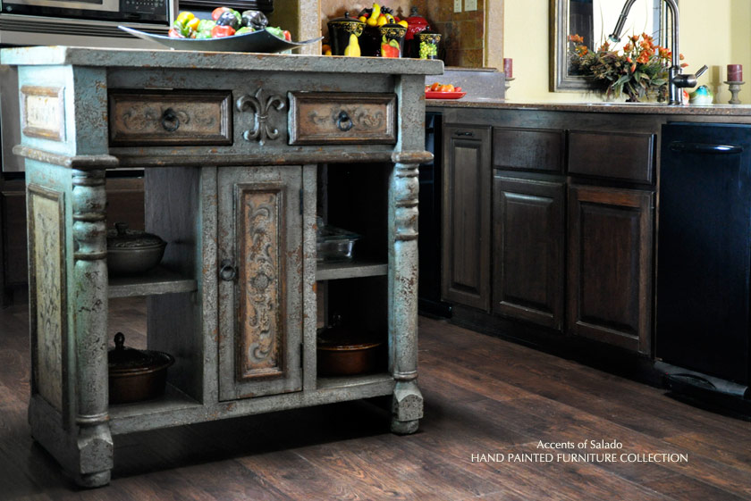 french country kitchen island furniture photo - 5