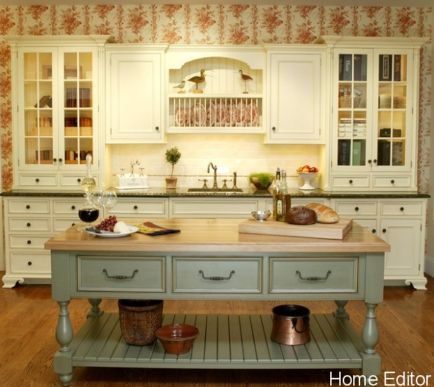 french country kitchen island ideas photo - 6