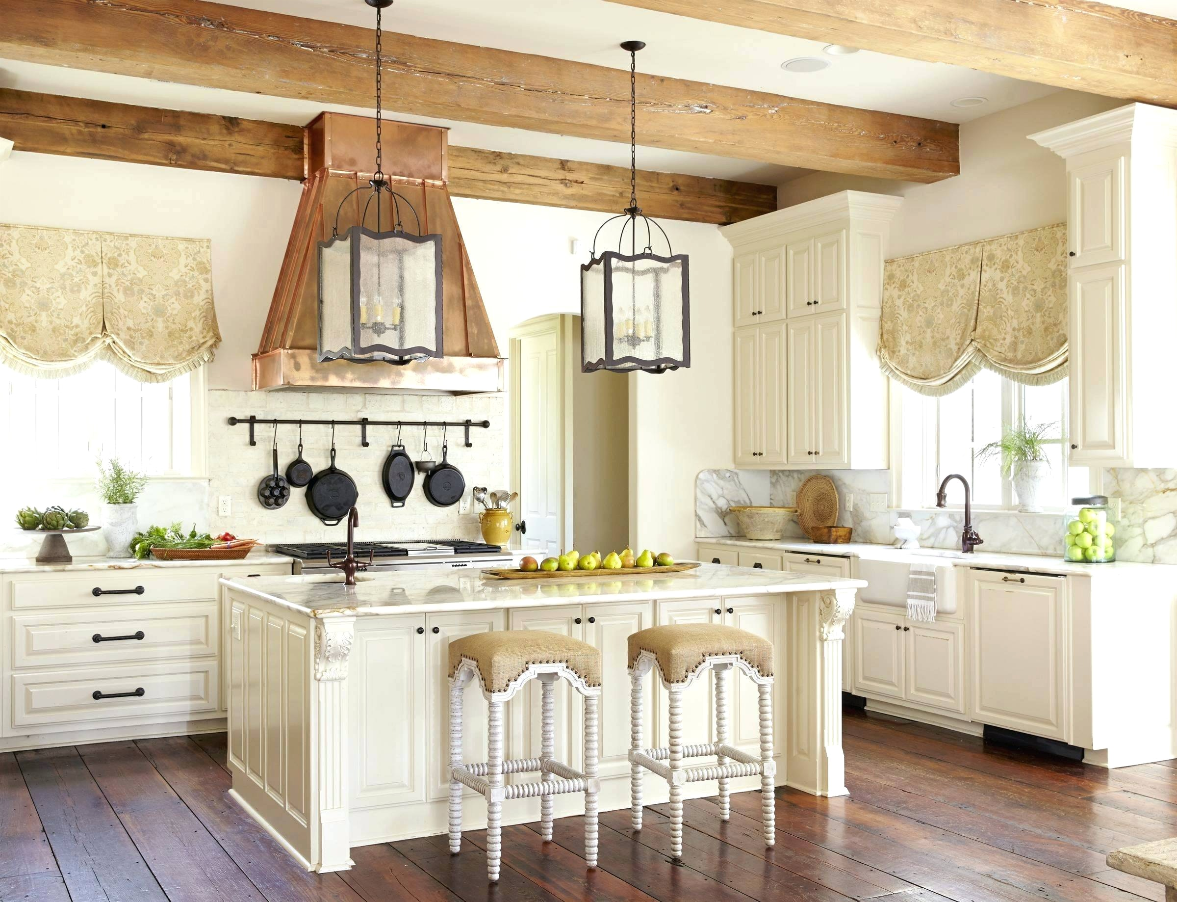 french country kitchen island lighting photo - 5