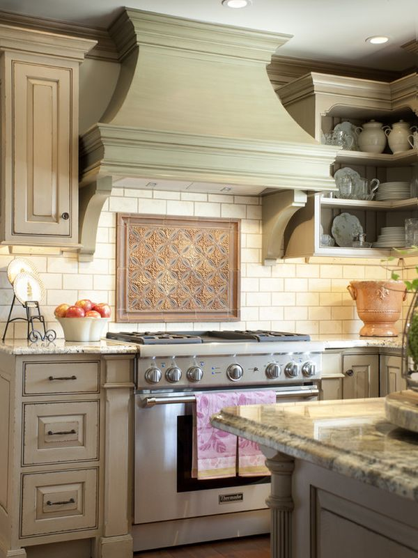 french country kitchen range hoods photo - 3