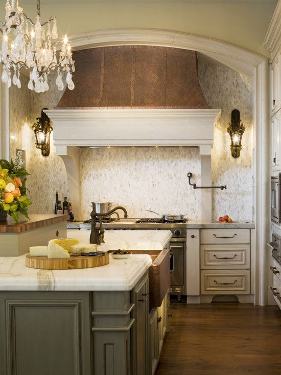 french country kitchen range hoods photo - 8