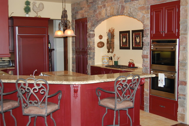 Bon French Country Kitchen Red Photo   1