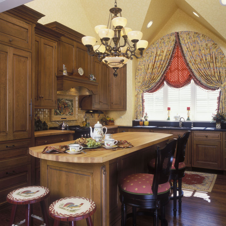 french country kitchen red photo - 3