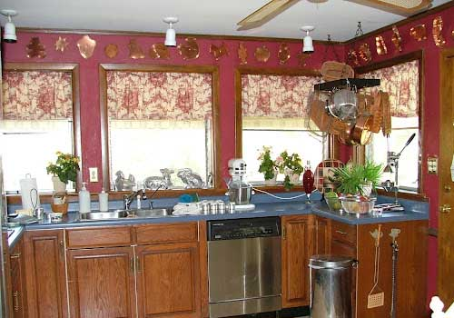 french country kitchen red photo - 7