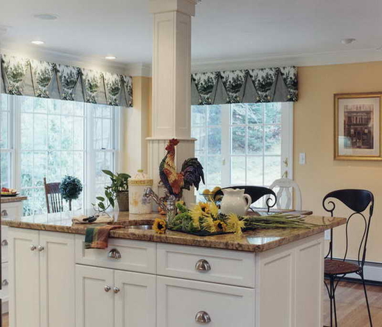 french country kitchen red photo - 8