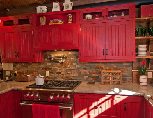 French Country Kitchen Red Hawk Haven