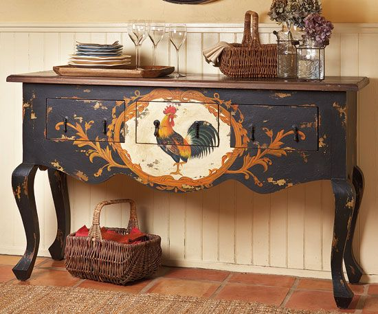 french country kitchen rooster photo - 7