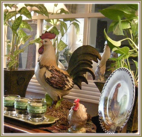 french country kitchen rooster photo - 8