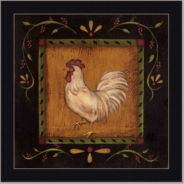 french country kitchen rooster photo - 9