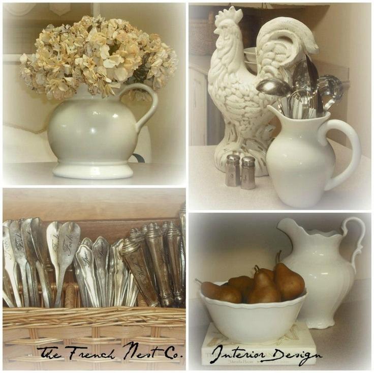 french country kitchen shelf photo - 10