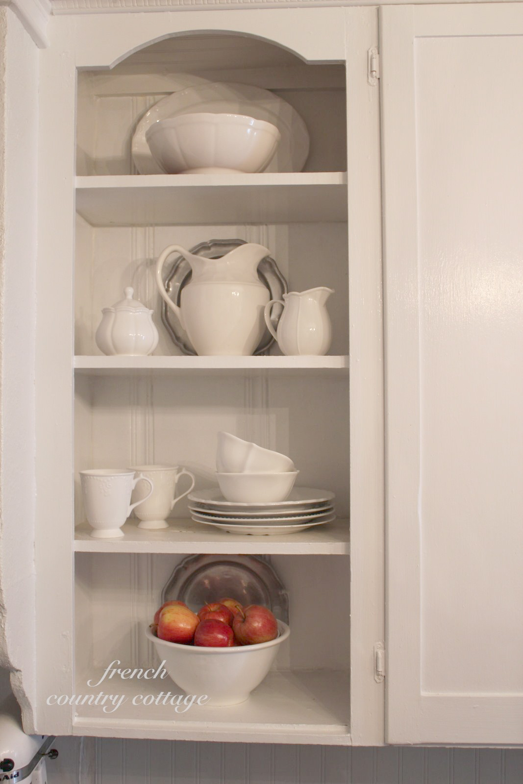 french country kitchen shelves photo - 2