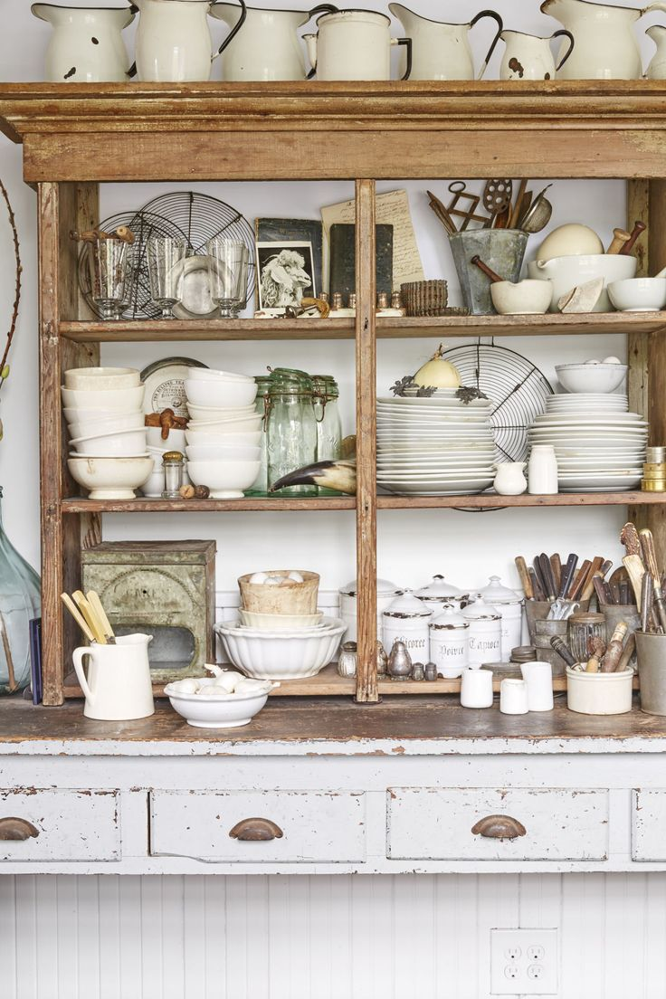 french country kitchen shelves photo - 3