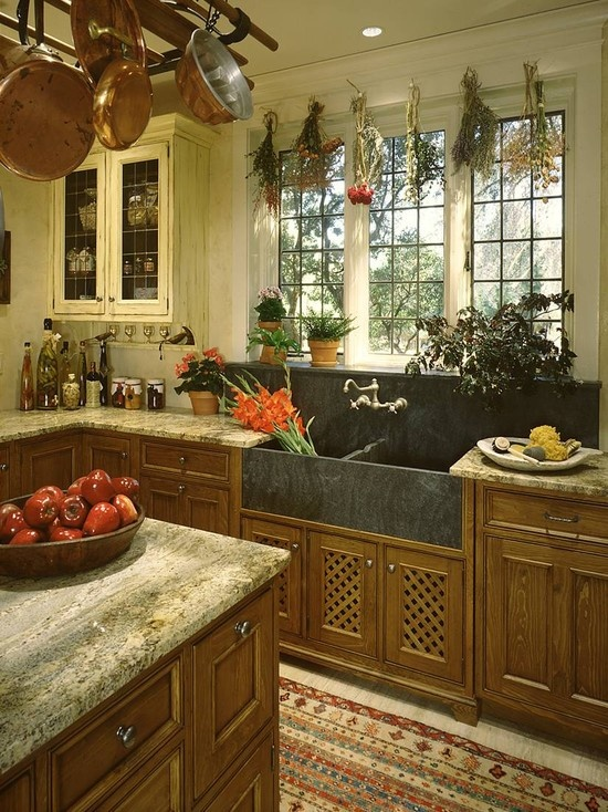 french country kitchen sinks photo - 7