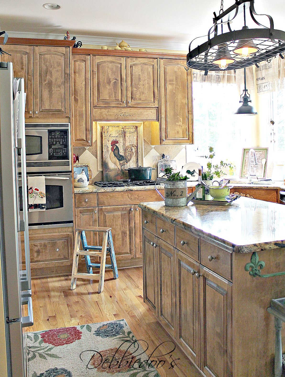 french country kitchen stencils photo - 10