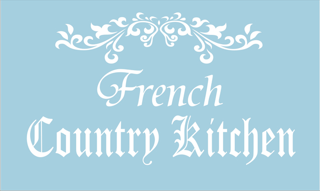french country kitchen stencils photo - 3