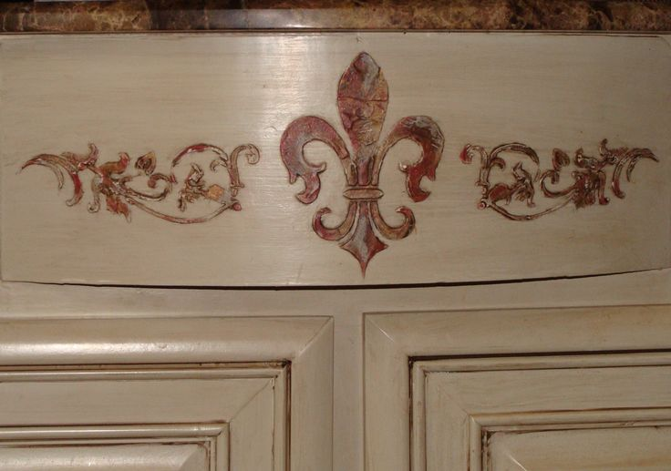 french country kitchen stencils photo - 9