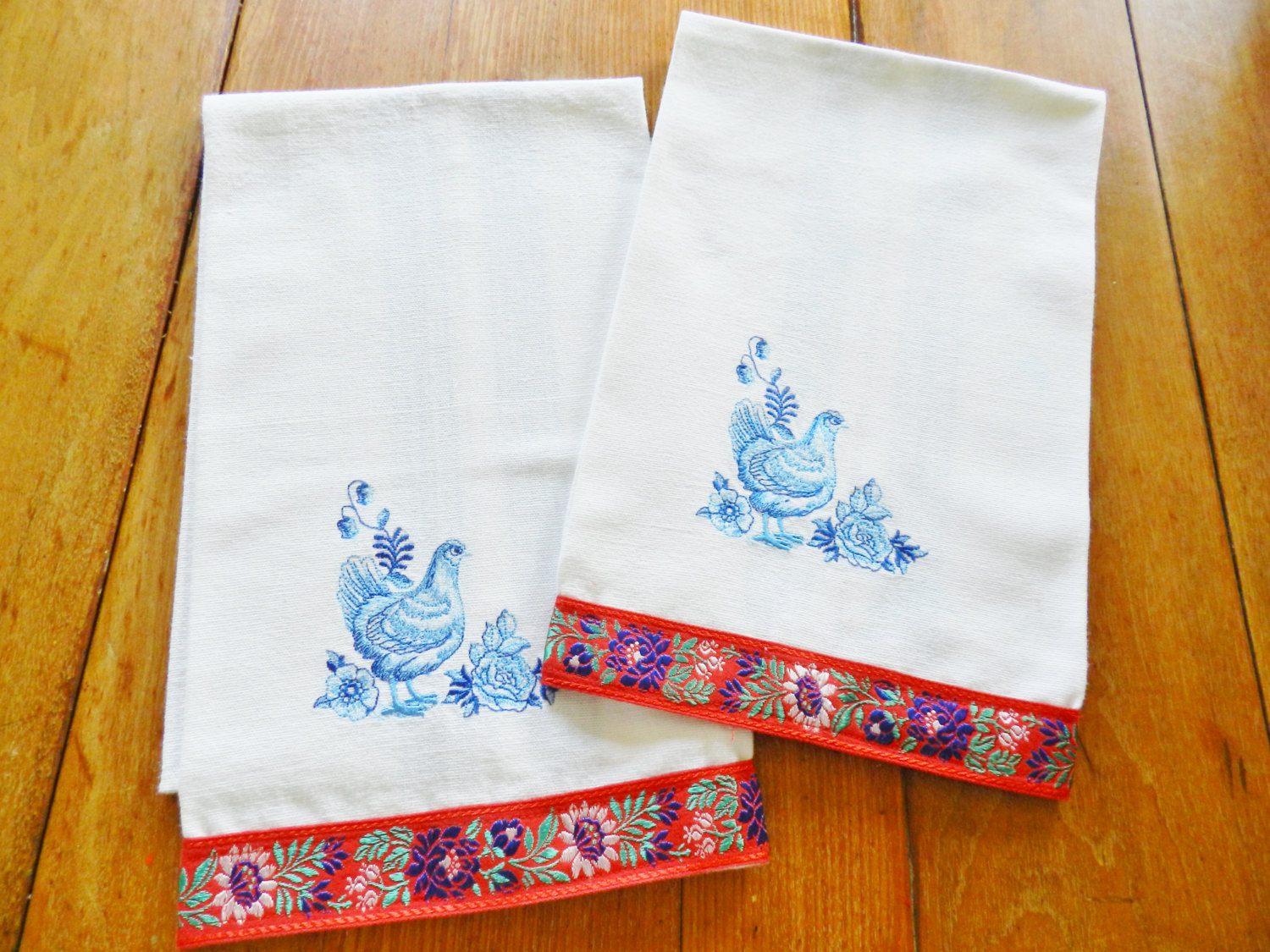 french country kitchen towels photo - 2
