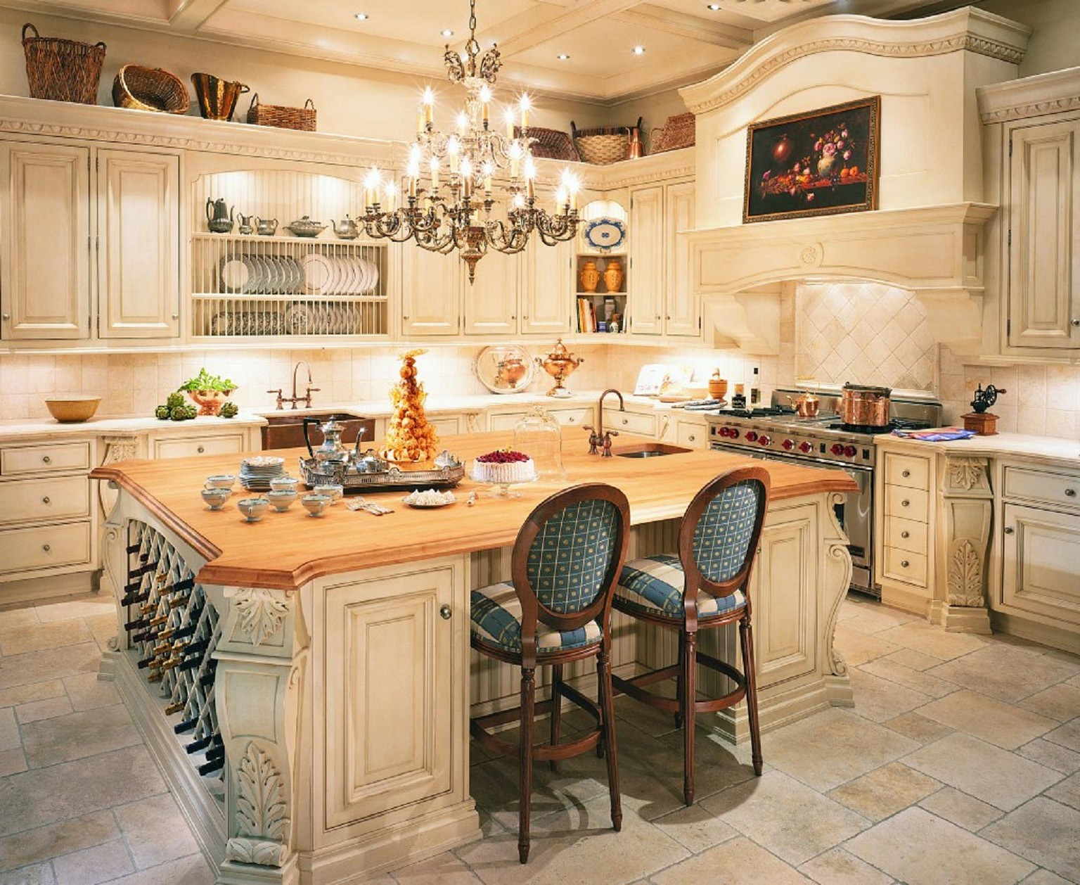 french country kitchen units photo - 10