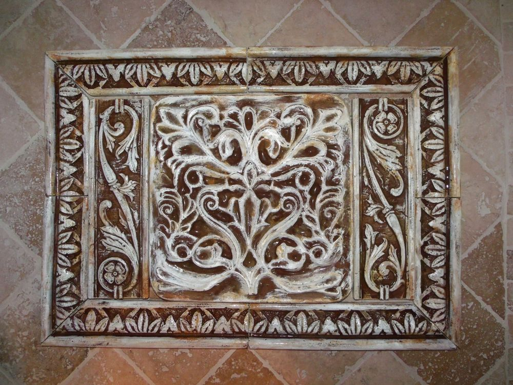 french country kitchen wall tiles photo - 10