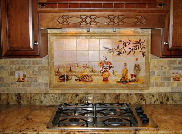 french country kitchen wall tiles photo - 3