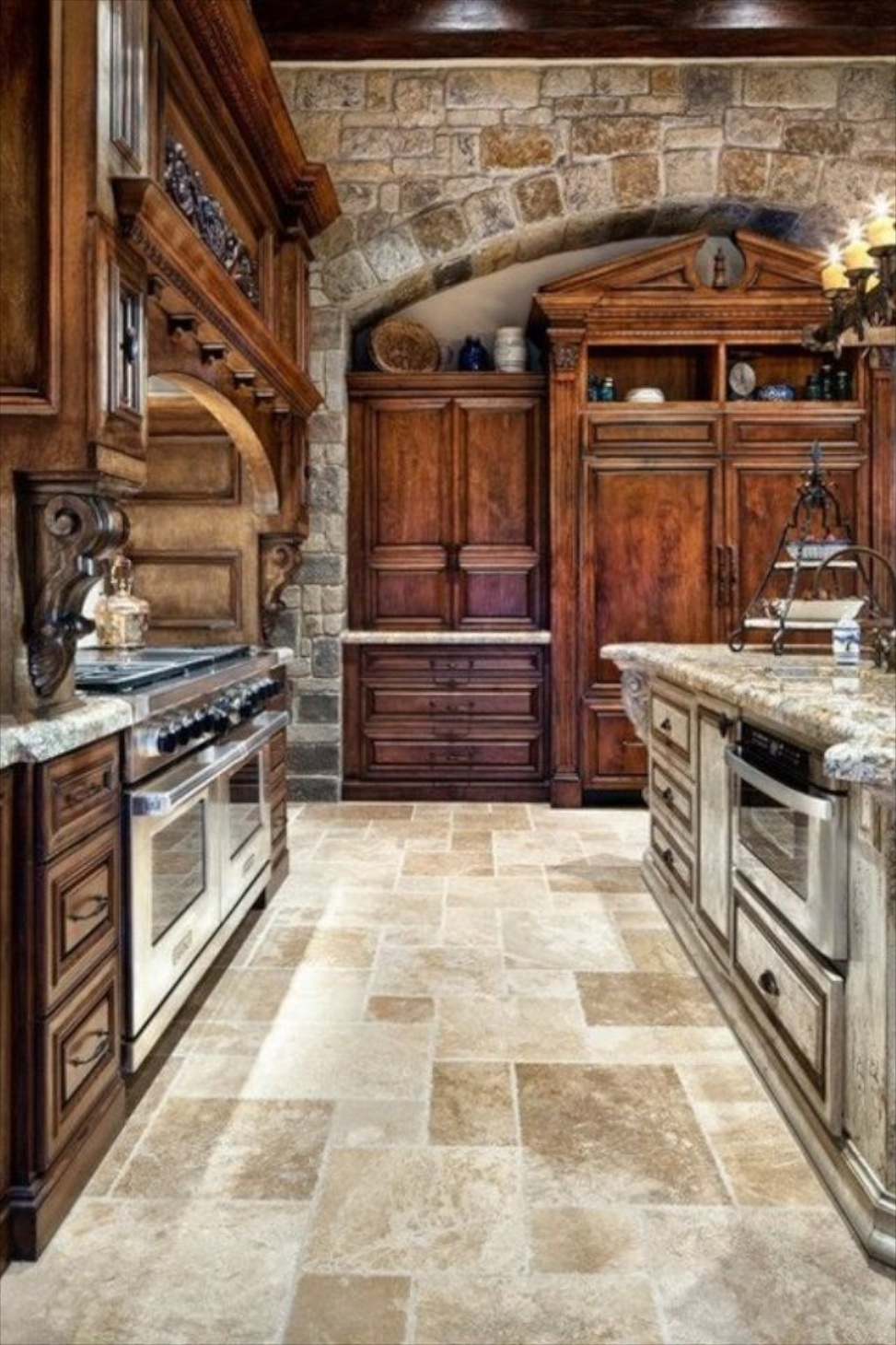 french country kitchen wall tiles photo - 7
