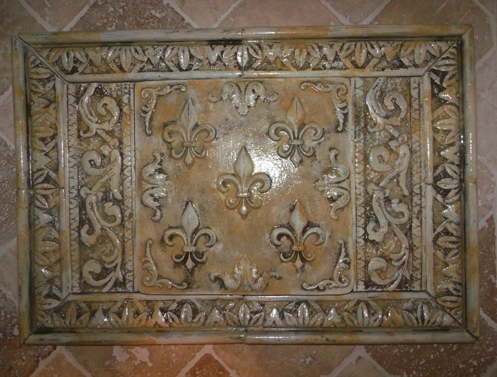 french country kitchen wall tiles photo - 9