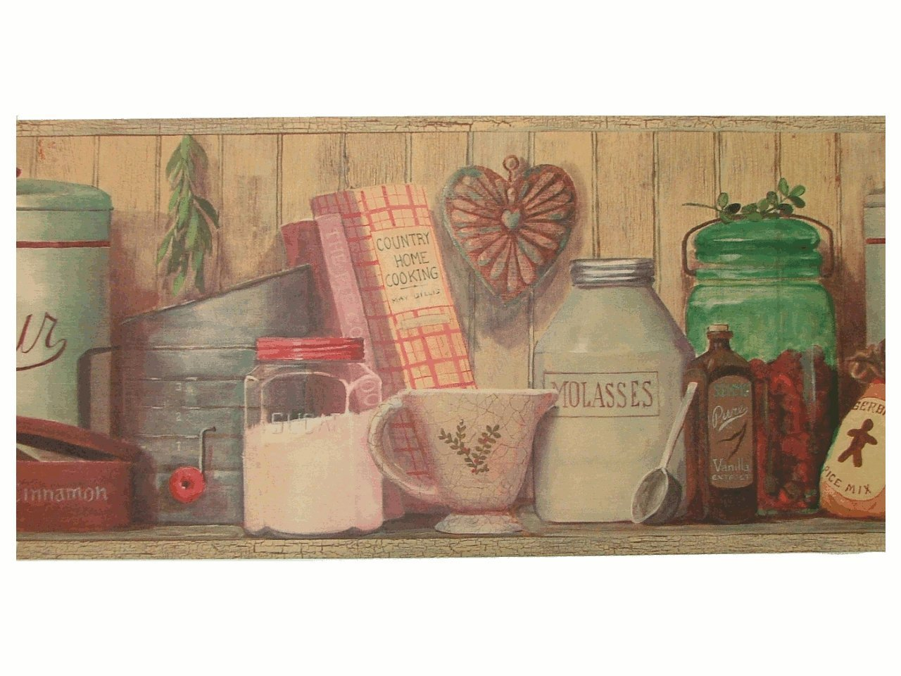 french country kitchen wallpaper borders photo - 9