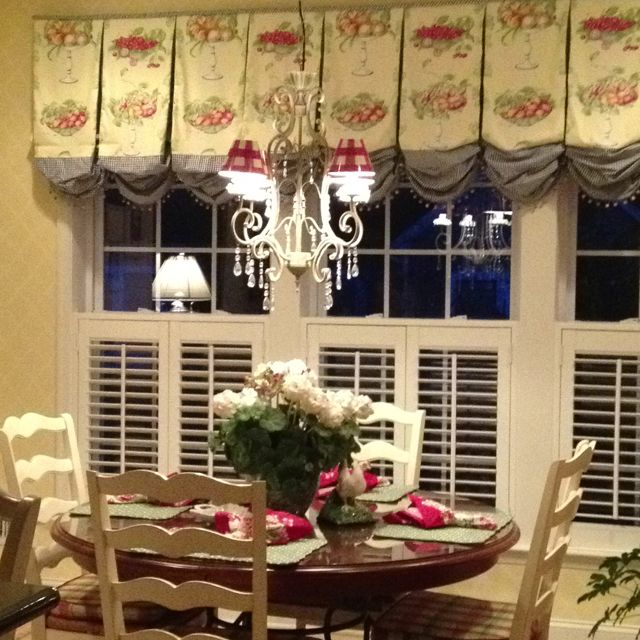 french country kitchen window treatments photo - 1