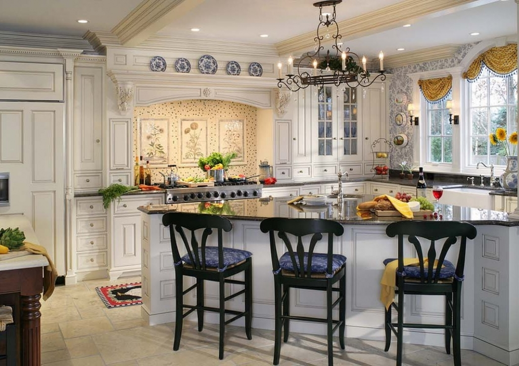 french country kitchen window treatments photo - 10