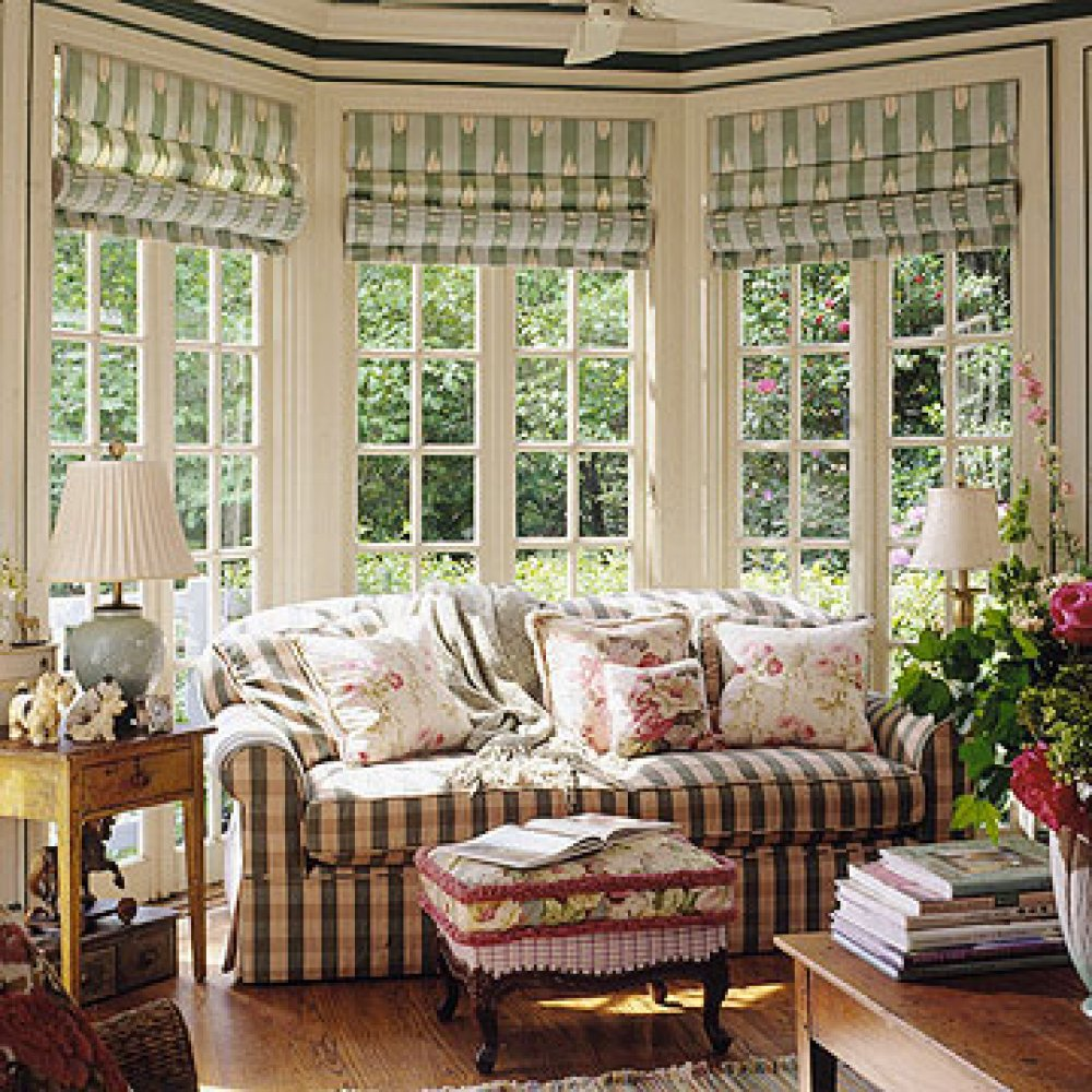french country kitchen window treatments photo - 3