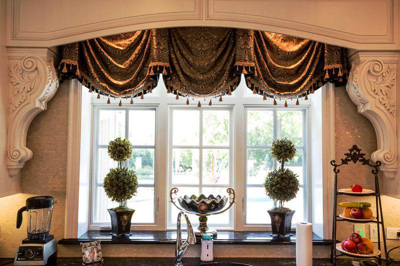french country kitchen window treatments photo - 6