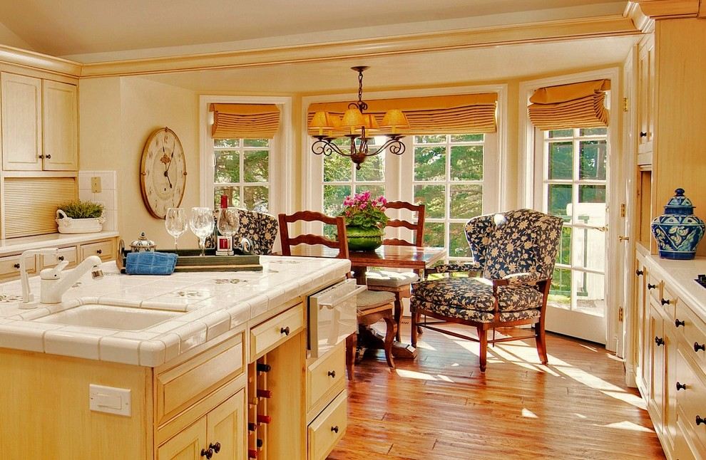 french country kitchen window treatments photo - 7